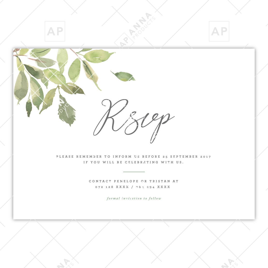 Rsvp Reminder Geometric Floral Anna Products